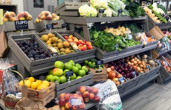 Farm Shop Display Fruit and Veg