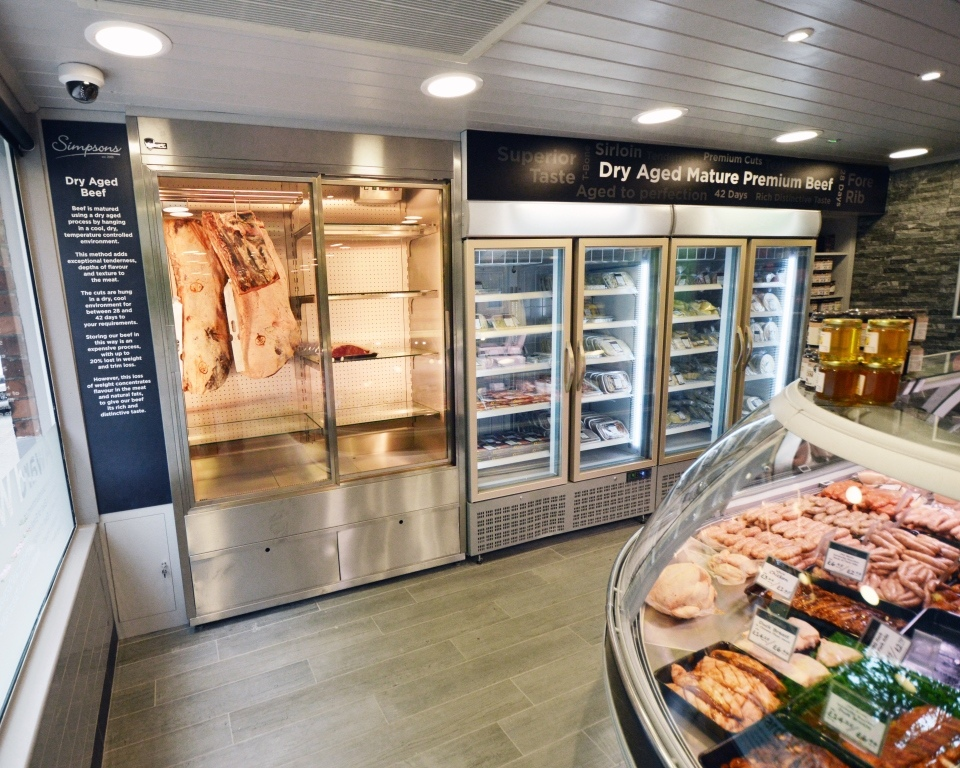Meat Fridge Display and Dry Ageing