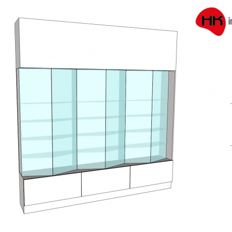 Scunthorpe Angled Wall Unit 05