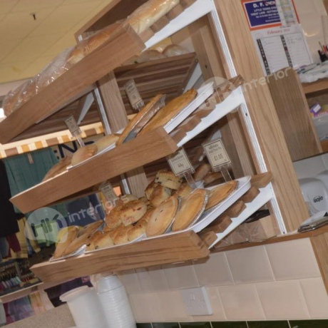 Birketts Grimsby Top Town Market Stall Bread Shelves